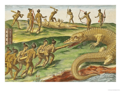 jacques-le-moyne-hunting-crocodiles-from-brevis-narratio-1563